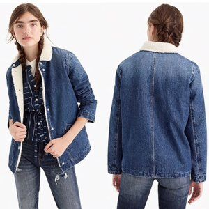J. Crew Jeans Relaxed Sherpa Lined Collared Jacket